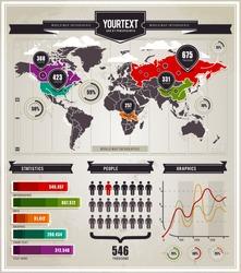 Vector set of infographics elements.