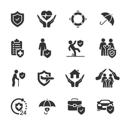 Vector set of insurance icons.