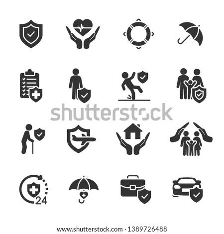Vector set of insurance icons. Сток-фото ©
