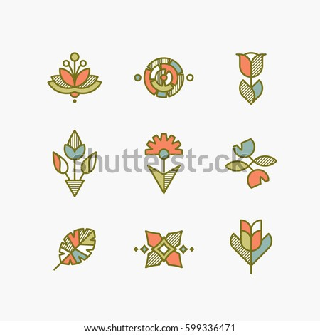 vector set of isolated abstract