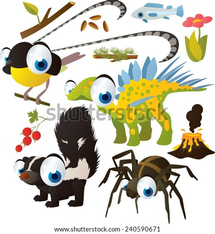 vector set of isolated cute