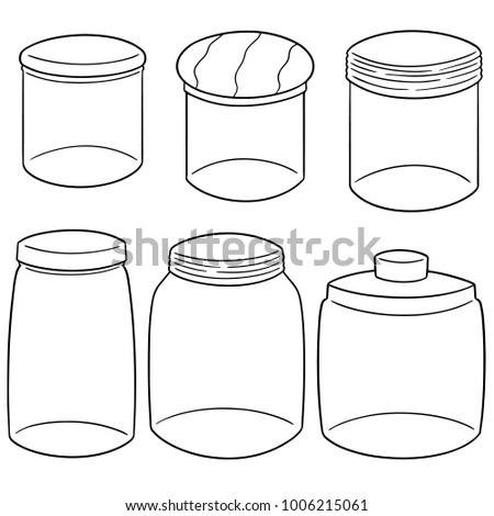 vector set of jars