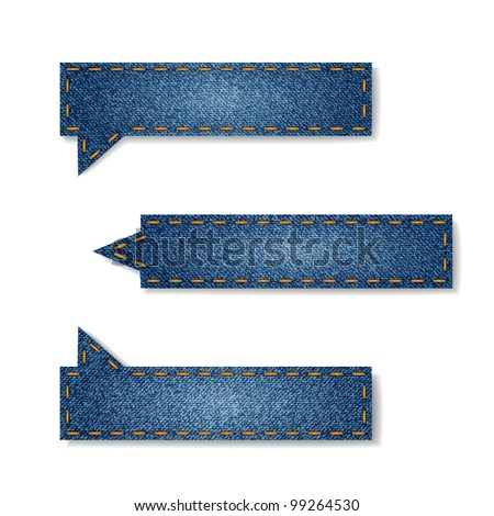 Vector set of jeans tags for your website