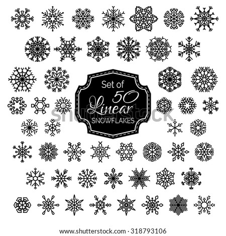 vector set of 50 linear...