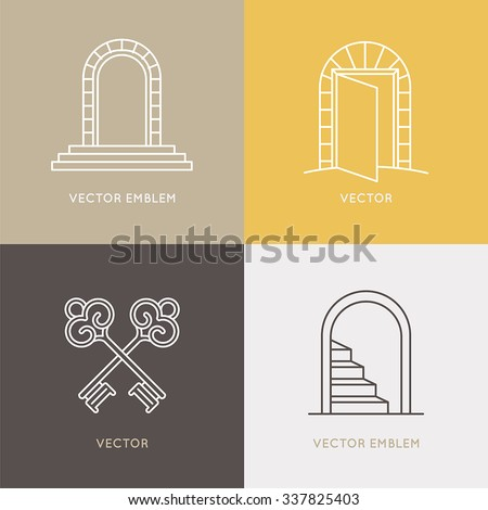 vector set of logo design