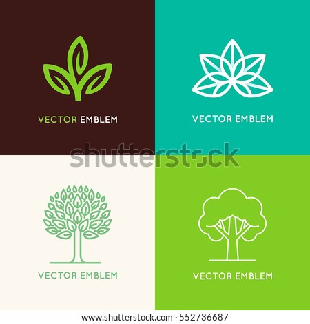 vector set of logo design