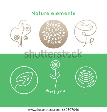 vector set of logo nature