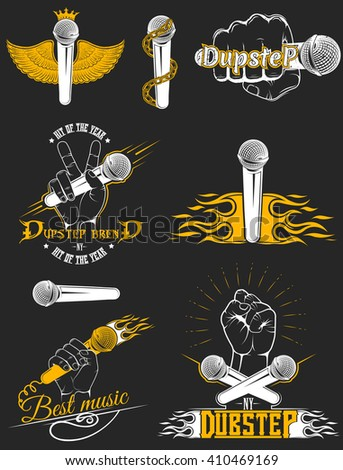 vector set of logos for dubstep