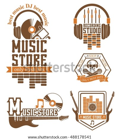 vector set of logos for the