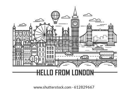 vector set of london city and