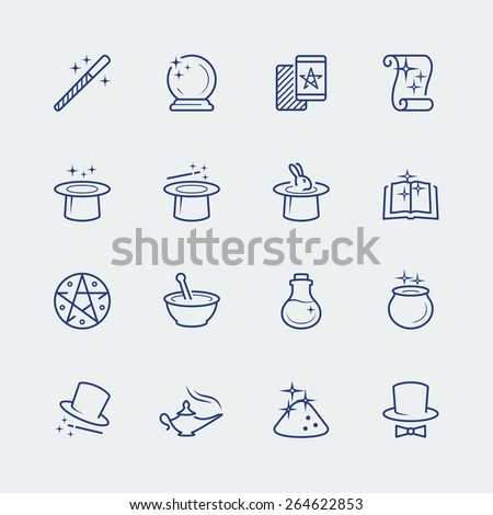 vector set of magic related