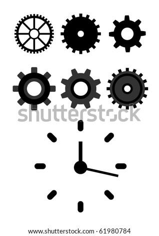 Vector set of mechanical symbols