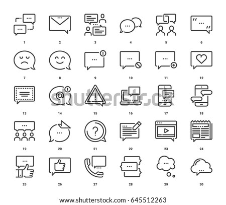 vector set of message bubbles
