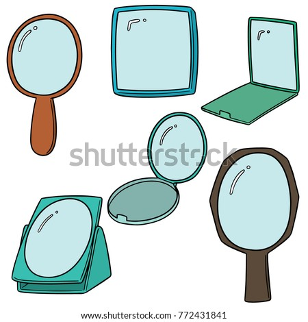 vector set of mirror