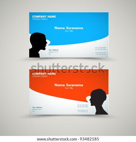 Vector Set of modern business card templates for man and woman