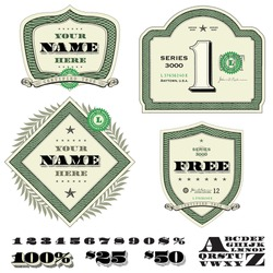 Vector Set of Money and Financial Frames. Easy to edit.