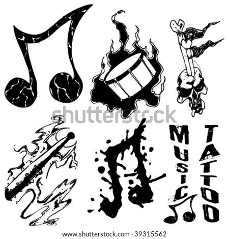 4 elements tattoo. Tattoo Grunge Elements Royalty Free Stock Vector Art