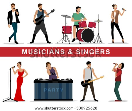 vector set of musicians and