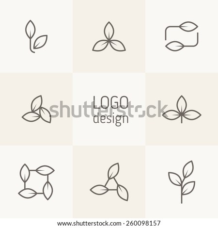 vector set of natural logo
