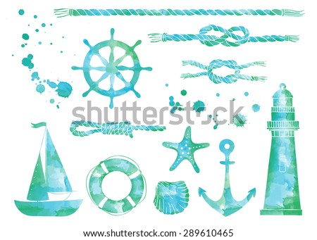 vector set of nautical elements