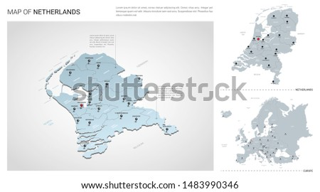 vector set of netherlands