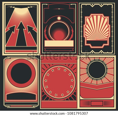 vector set of obey poster