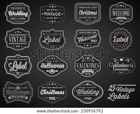 labels black and white