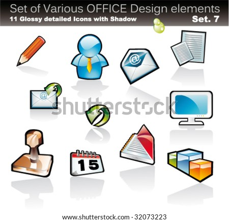 VECTOR Set of Office Abstract Design Elements - Set 7