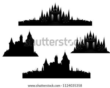 vector set of old european