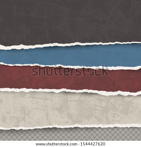 vector set of old torn color