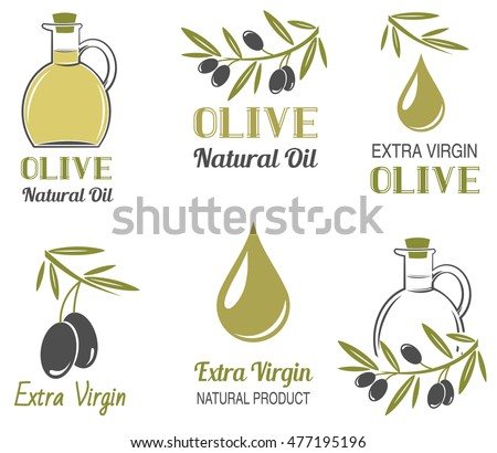 Vector set of olive oil  labels