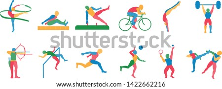 Vector Set Of Olympic Sports Icons Isolated