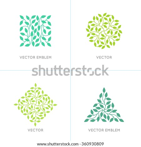 vector set of organic and