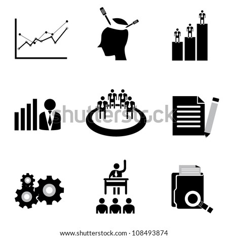vector set of organization development, human resource management