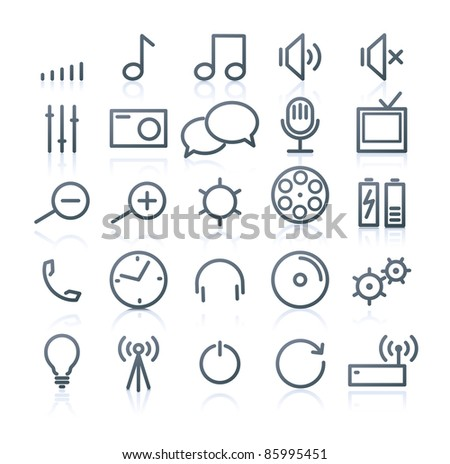 Vector set of original multimedia Icons