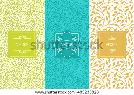 vector set of packaging design