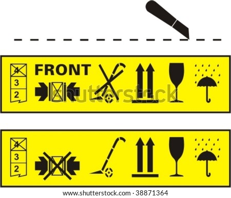 Vector set of packing and parcel symbols