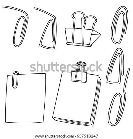 vector set of paper clip