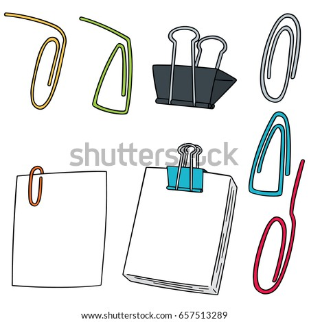 vector set of paper clip