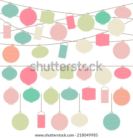 vector set of pastel colored