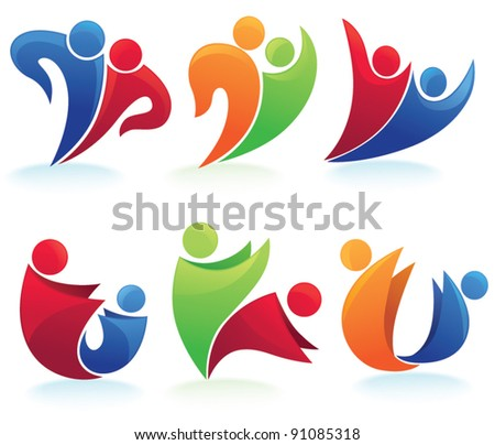 vector set of people, family, love and communication