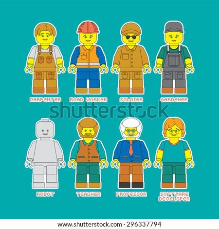 vector set of people of