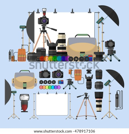 vector set of photography