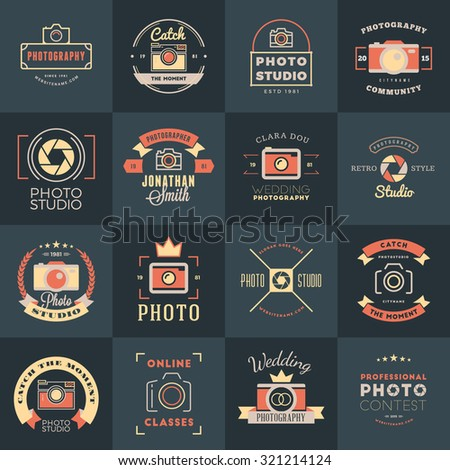 vector set of photography logo