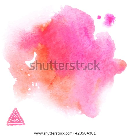 vector set of pink and orange