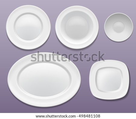Vector set of plates