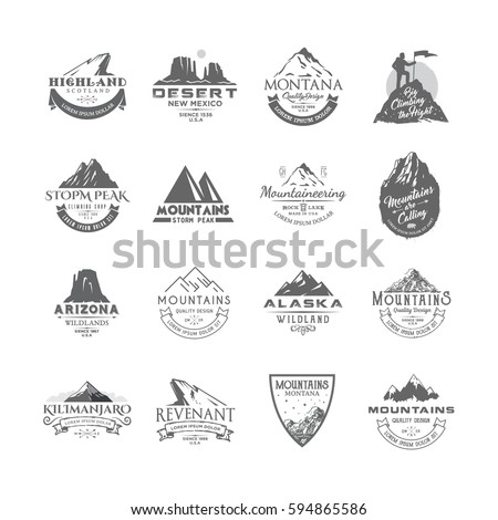 vector set of premium labels on ...