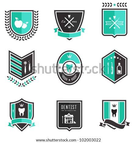 Vector set of professional dentist medical badges
