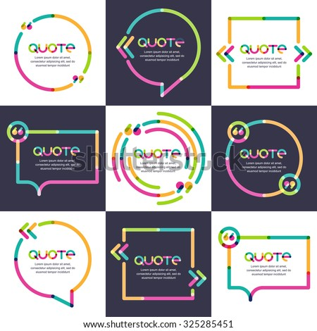 vector set of quote forms