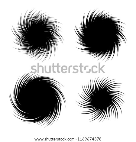 vector set of radial spiral